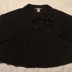 NWOT Cute Swing Jacket with Rose Pin